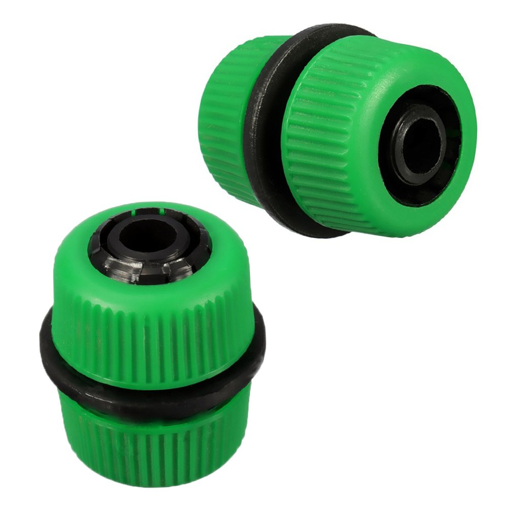 LVOERTUIG 2pcs Garden Water Hose Connector Pipe Quick Connectors Joining Mender Repair Leaking Joiner Connector Adapter Easy Connect Fitting