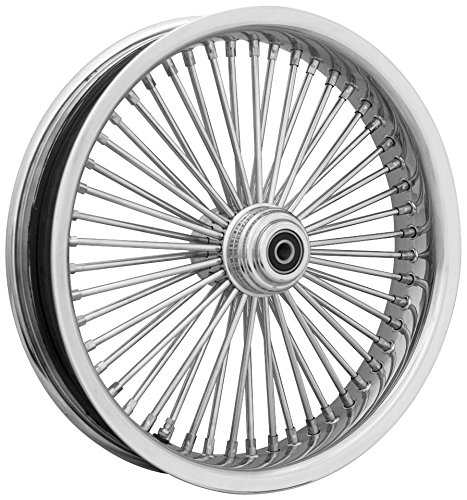 Ride Wright Wheels Inc Exotica Chrome 50 Spoke 16x3.5 Front Wheel (Single Disc), Color: Chrome, Position: Front, Rim Size: 16 04635-815-EX-T