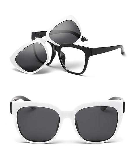 ebd52a5cc2e3 Polarized UV Protection Fashionable Detachable 2 Inches Width Sunglasses  (Black-White