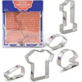 Football Cookie Cutters - 5 Piece Boxed Set - T-Shirt, Football, Football Helmet, Large #1, Megaphone - Ann Clark - US Tin Plated Steel