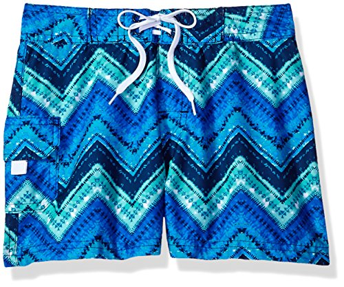 ls' Kirsten UPF 50+ Quick Dry Beach Coverup Boardshort, Blue, Medium (5) ()