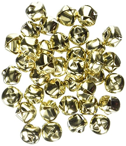 Darice 48-Piece Gold Bells, 1/2-Inch (3 Packs for Total of 144 Pieces)