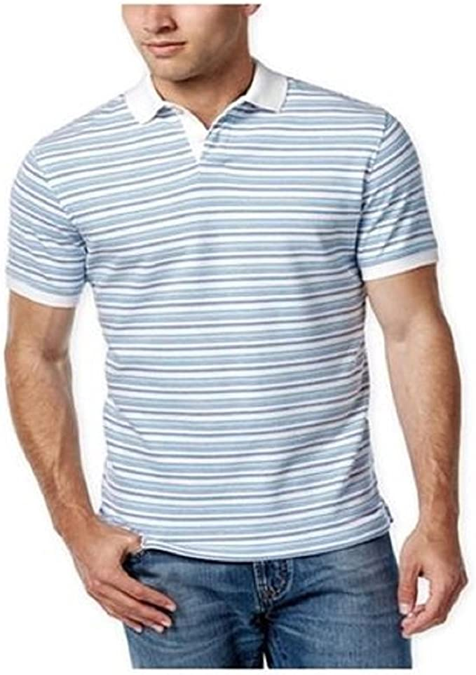 Club Room Mens Feeder Stripe Rugby Polo Shirt