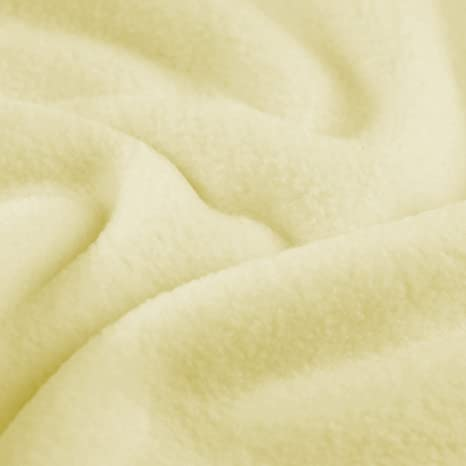 CREAM Polar FLEECE soft fabric material antipill 150cm wide sold by the metre