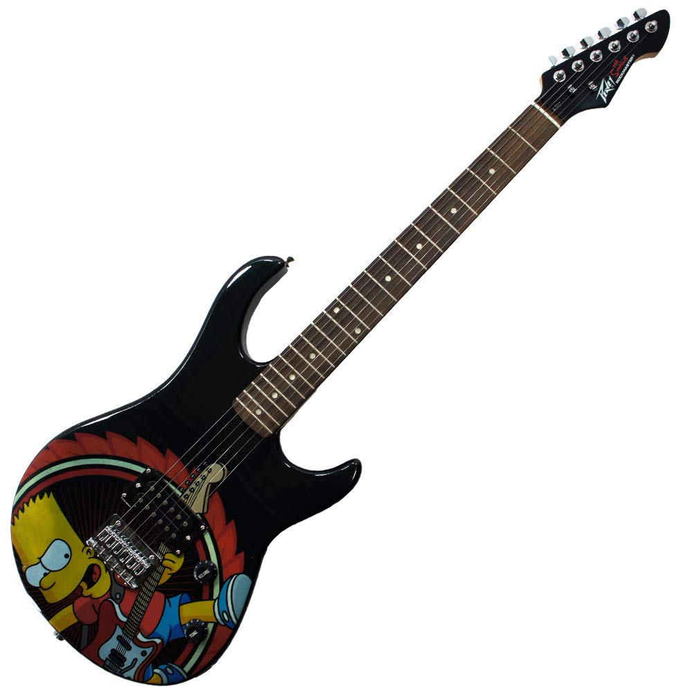 Peavey Simpsons Rockmaster Full-Size Electric Guitar with Rocking Bart Decal (03020340) by Peavey