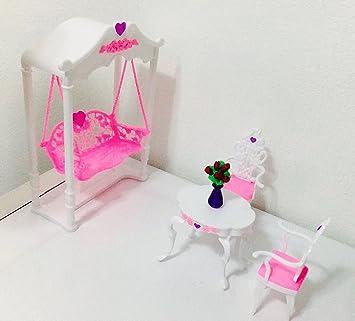 barbie size dollhouse furniture garden swing amazoncom barbie size dollhouse