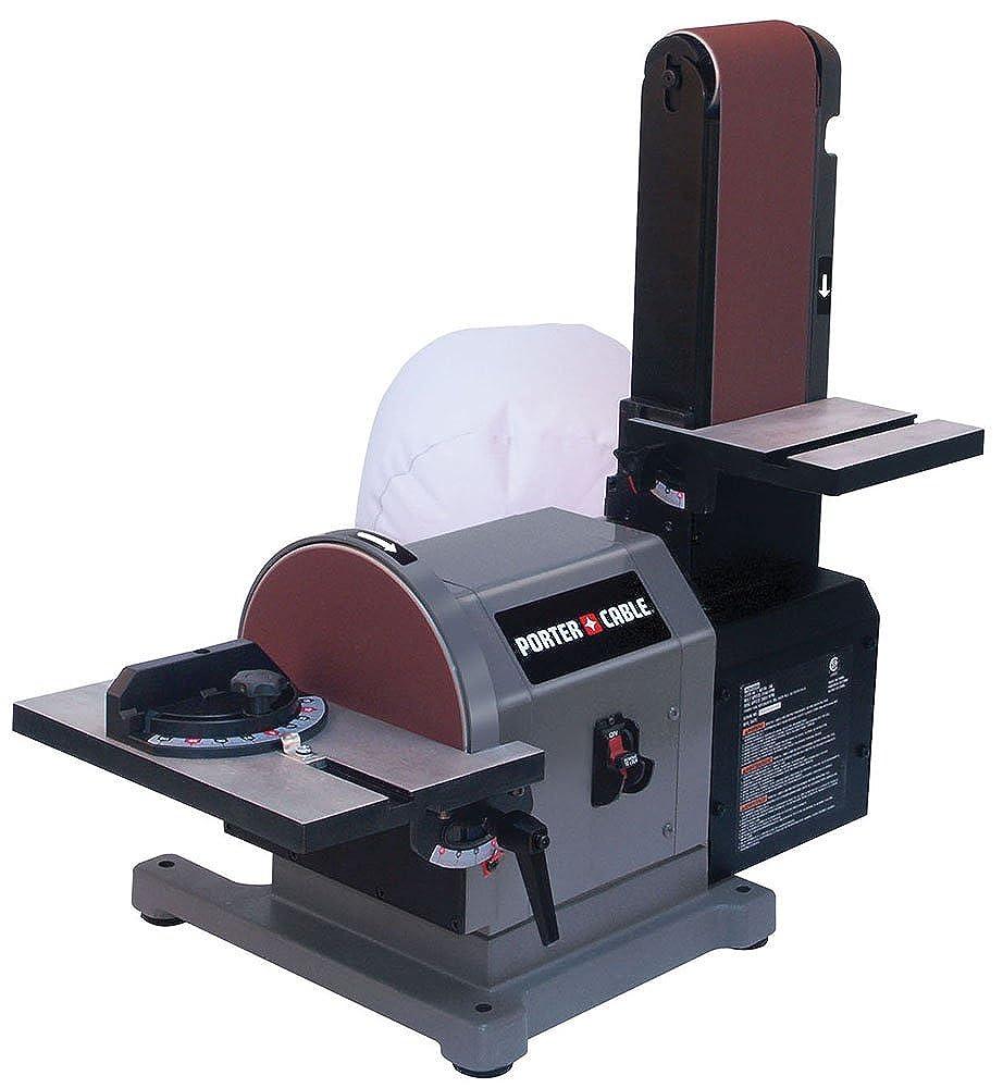 Porter Cable Benchtop Disc Belt Sander with Disc Work Table, Miter Gauge, Sanding Belt and Disc, and Belt Work Table