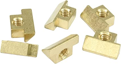 Set of 6 Unplated brass string saddles for Gibson NON-WIRED ABR-1 bridge