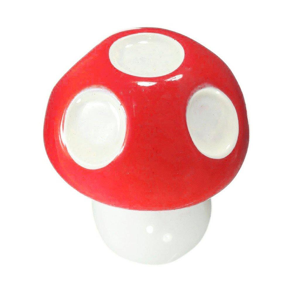 TOOGOO(R)5pcs Miniature Mushroom Flower Pot Planter Landscape Garden Decor Ornaments Red
