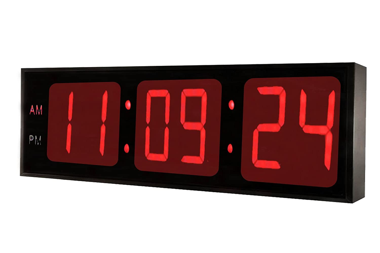 36 inch DBTech Huge 36 Inch Large Oversized Digital LED Clock Red LED