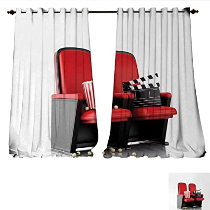 Sensational Amazon Com Window Curtain Drape 3D Illustration Cinema Bralicious Painted Fabric Chair Ideas Braliciousco