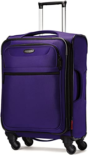 Samsonite Lift Spinner 21 Inch Expandable Wheeled Luggage, Purple, One Size