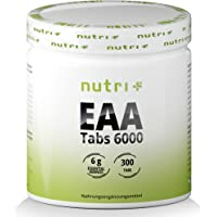 EAA-TABLETTER - 300 tabletter 1025 mg - MAXIMAL DOS - Essentiella aminosyror - EAA Neutral utan magnesiumstearat…