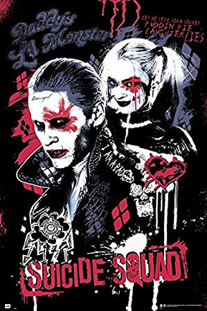 SUICIDE SQUAD Supervillian Gang POSTER Harley Quinn Joker rolled poster 24x36