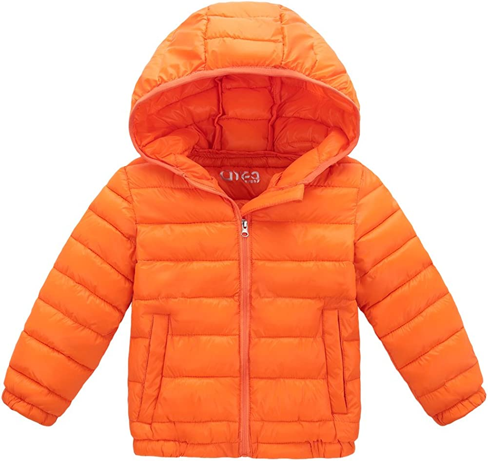 LOSORN ZPY Baby Boy Girl Winter Puffer Coat Toddler Cotton-Padded Hooded Outwear