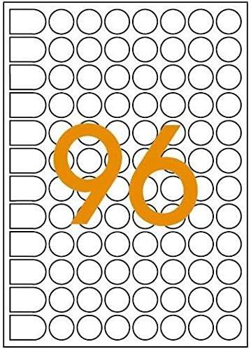 10F de 960 Pastilles Gommettes Rondes 15 mm Rouge AGIPA Lot de 12 Etuis A5