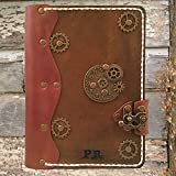 Handmade leather journal,refillable leather journal,personalized leather journal,steampunk leather journal,leather notebook,distressed leather journal,leather sketchbook