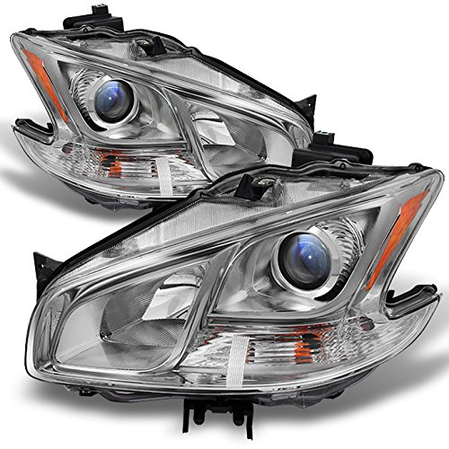 Fits Maxima 4Dr Sedan Projector Halogen Type Headlights Driver Left + Passenger Right (Nissan Maxima Projector Headlights)