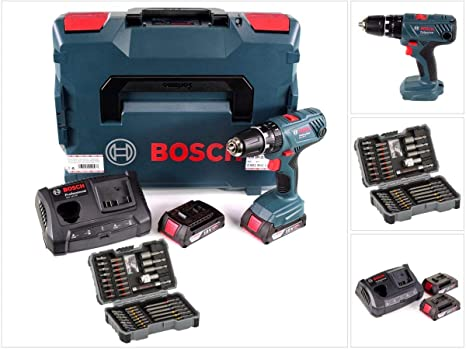 Bosch GSB - Taladro Atornillador (18 V, 55 NM, 2 baterías de ...