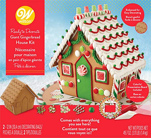 - Wilton Ready-to-Decorate Giant Gingerbread House Decorating Kit