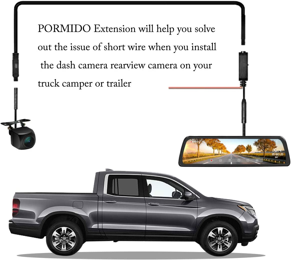 49FT Extension Rearview Backup Camera Cable for Truck Camper Trailer Bus Van 4 pin