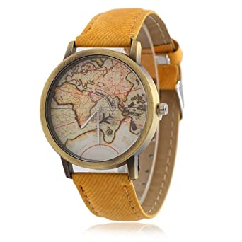 Buy cloudwood moving plane world map analogue blue dial unisex watch cloudwood moving plane world map analogue blue dial unisex watch wch 22 yellow gumiabroncs Gallery