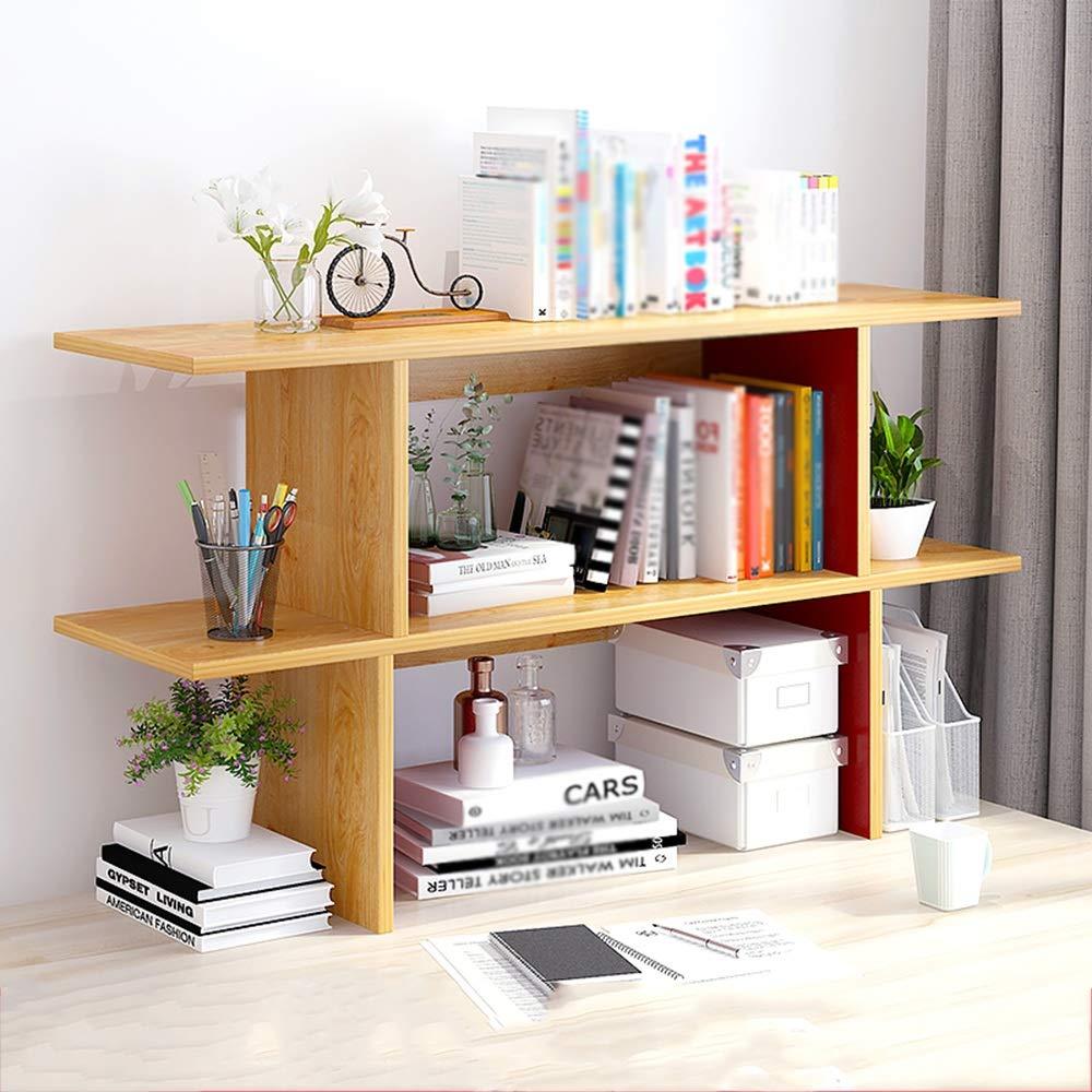 C-110cm DDSS bookshelf Simple Modern Desktop Solid Wood Shelf Multi-Function Bookshelf (Three Sizes to Choose from) Storage Shelf (Size   A-60cm)