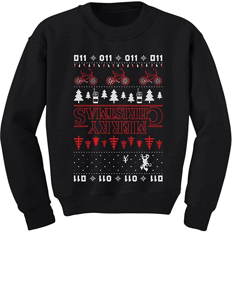 TeeStars - Merry Christmas The Upside Down Ugly Christmas Youth Kids Sweatshirt GhPhrM3gfm
