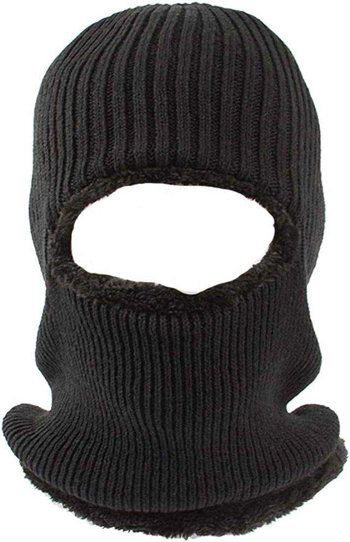 Balaclava Ski Mask, Fleece-Hood - Winter Beanie Hat Windproof Face Mask for Men Women