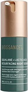 product image for Biossance Squalane + Lactic Acid Resurfacing Night Serum - Retexturizing Facial Treatment for Nighttime - No Parabens - Vegan + Fragrance-Free (30ml)