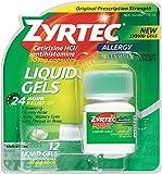 Zyrtec Allergy 10 mg Liquid Gels 12 ea (7 Pack)