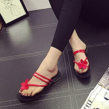 35c1c95655 LGK FA Flowers Toes Fashionable Flat Slippers Flip Flops Girls Sandals  Women S Shoes Two Wear ...