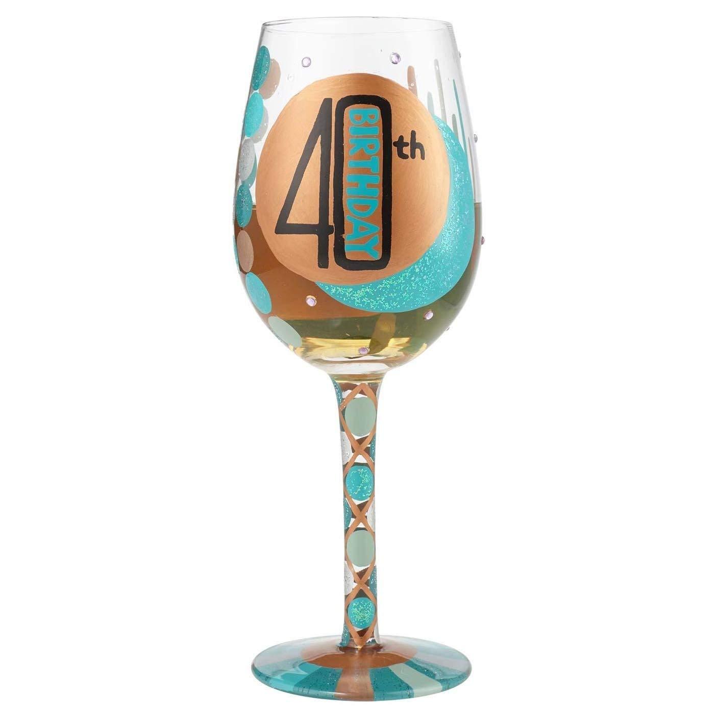Lolita - Copa de vino pintada a mano para 40 cumpleaños, el ...