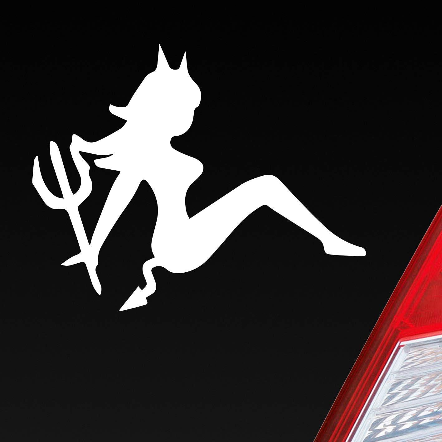 Auto Aufkleber In Deiner Wunschfarbe Teufel Teuflisch Sexy Girl Pin Up Devil 12x10cm Autoaufkleber Sticker Folie Auto