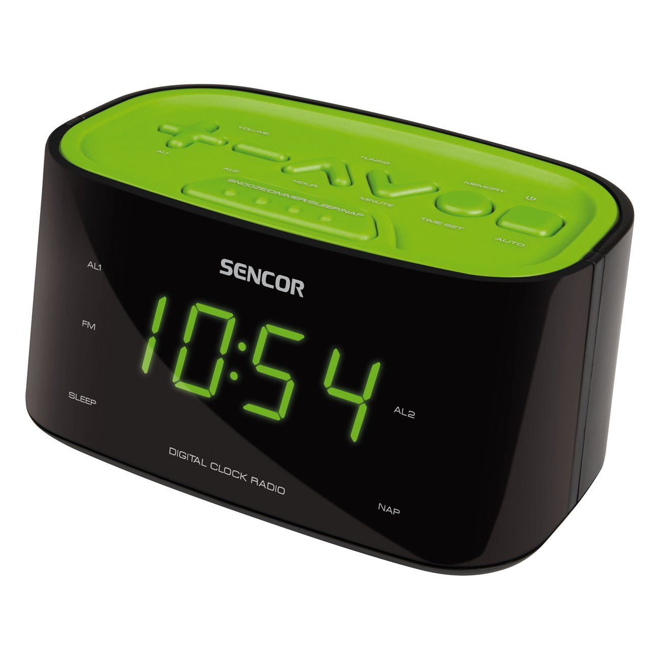 Sencor SRC 180 GN Reloj Digital Negro, Verde - Radio (Reloj ...