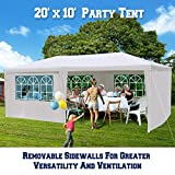 BenefitUSA 10'X20' Wedding Party Tent Outdoor Gazebo Pavilion Canopy Buffet Cater Event (With 6 Sidewalls)