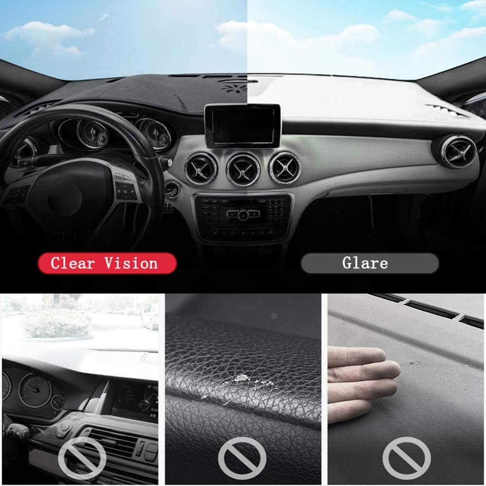 Oneuda Flannel Dashmat Dashboard Cover Dash Pad Car Mat Carpet Sun Shade for/ Lexus is-F IS250 IS350 IS300 2006-2011 2012 2013 Anti-Slip Dash Board Cover Auto Accessories