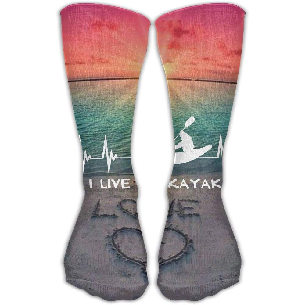 I Live To Kayak Heartbeat Best High Performance Athletic Running Casual  Socks For Men   Women at Amazon Women s Clothing store  1b4b0fa542