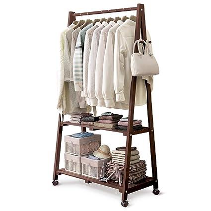 Amazon.com: LiRuiPeng coat rack GWDJ Coat And Hat Rack Pine ...