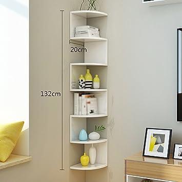 Bücherregal wandhängend  JCRNJSB® Rack, Eck Bücherregal Regal Regale Aufbewahrungsregal Wand ...