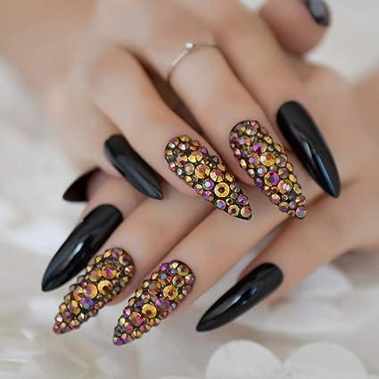 EchiQ L5011 - Juego de 24 uñas postizas de uñas postizas ...