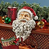 Cheap Christmas Decorations – Ho-Ho-Hold It Santa Claus Fireplace Mantle Christmas Stocking Holder Statue