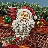 Design Toscano Christmas Decorations - Ho-Ho-Hold It Santa Claus Fireplace Mantle Christmas Stocking Holder Statue