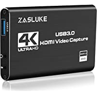ZasLuke 4K HDMI Game Capture Card, USB 3.0 HDMI Video Capture Device with HDMI Loop-Out 1080P 60FPS Live Streaming Game…