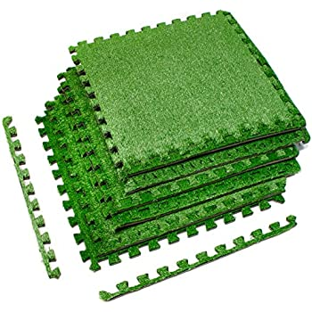 Amazon Com Sorbus Grass Mat Interlocking Floor Tiles