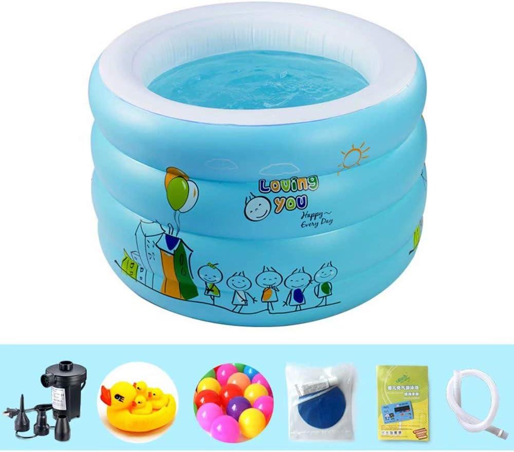 ZDYG Piscina Infantil Inflable, Familia Piscina de Fondo de Burbujas Gruesas Piscina de Remo portátil de jardín de PVC para bebés, azul-210 * 150 * 55 cm: Amazon.es: Hogar