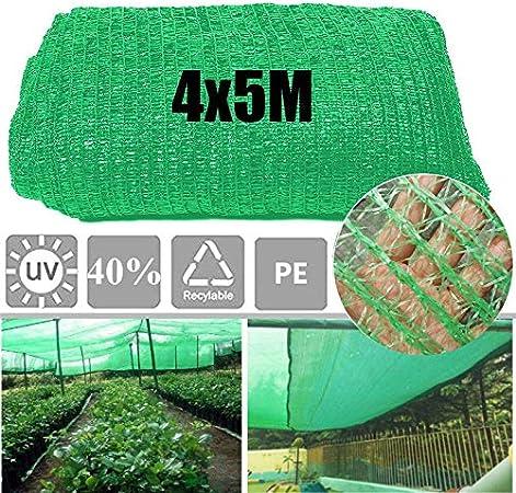 GJR-Zheyangpeng 40% 4x5m Sunblock Sombra de Tela para la Cubierta de la Planta Invernadero Granero Sombrilla Cubierta Jardín Patio Huerta Accesorios Verde