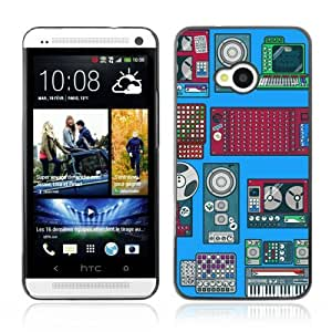 YOYOSHOP [Cool Retro Devices Illustration] HTC One M7 Case