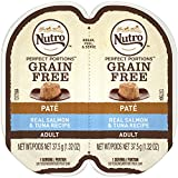 Nutro PERFECT PORTIONS Pate Real Salmon Tuna Wet Cat Food Tray 2.65 Ounces (24 Twin Packs)