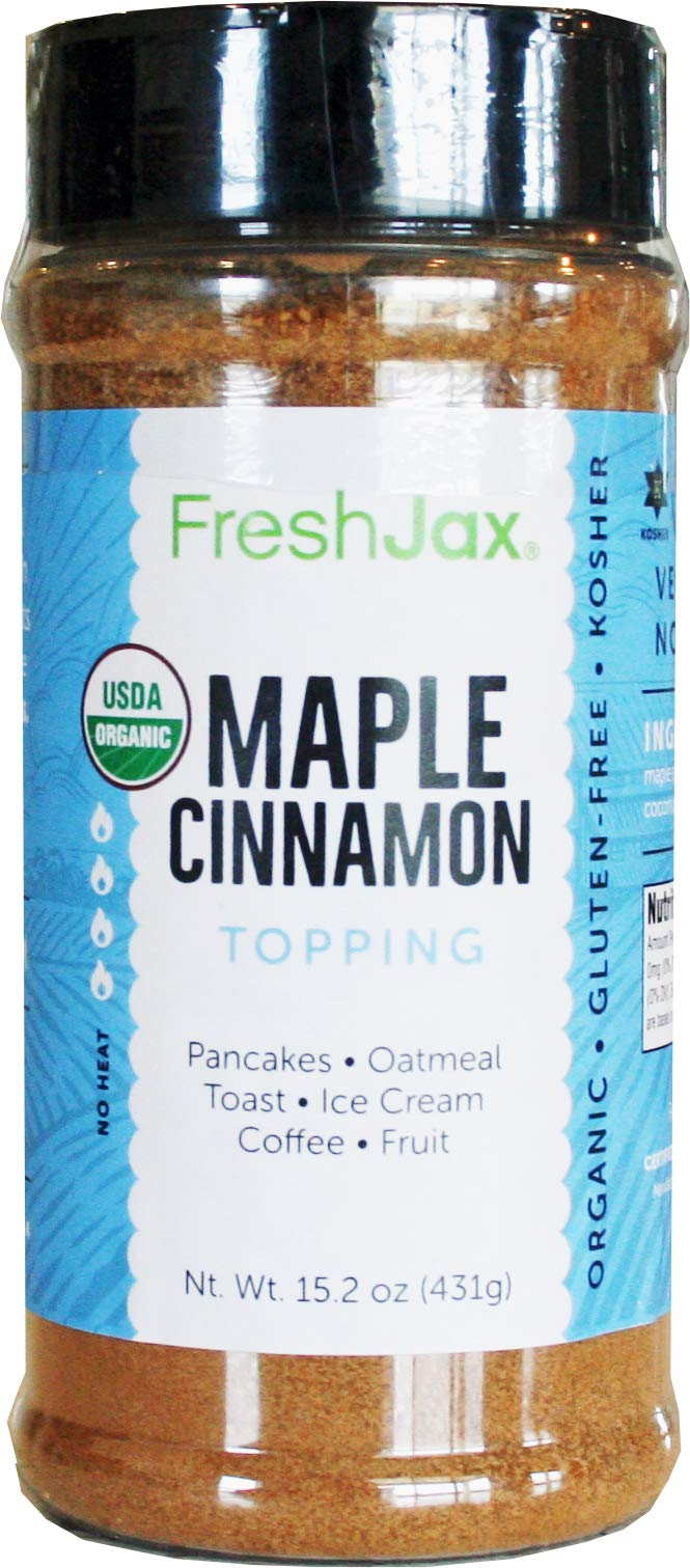FreshJax Premium Gourmet Spices and Seasonings (Organic Maple Cinnamon - Extra Large) by FreshJax